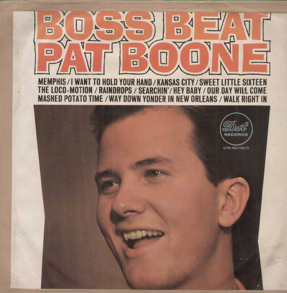Boss Beat Pat Boone English Vinyl LP