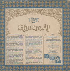 Live In India Ghulam Ali Bollywood Vinyl LP- Dual LP's