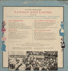 An Evening With Lerner And Loewe English Vinyl LP- Dual LP's