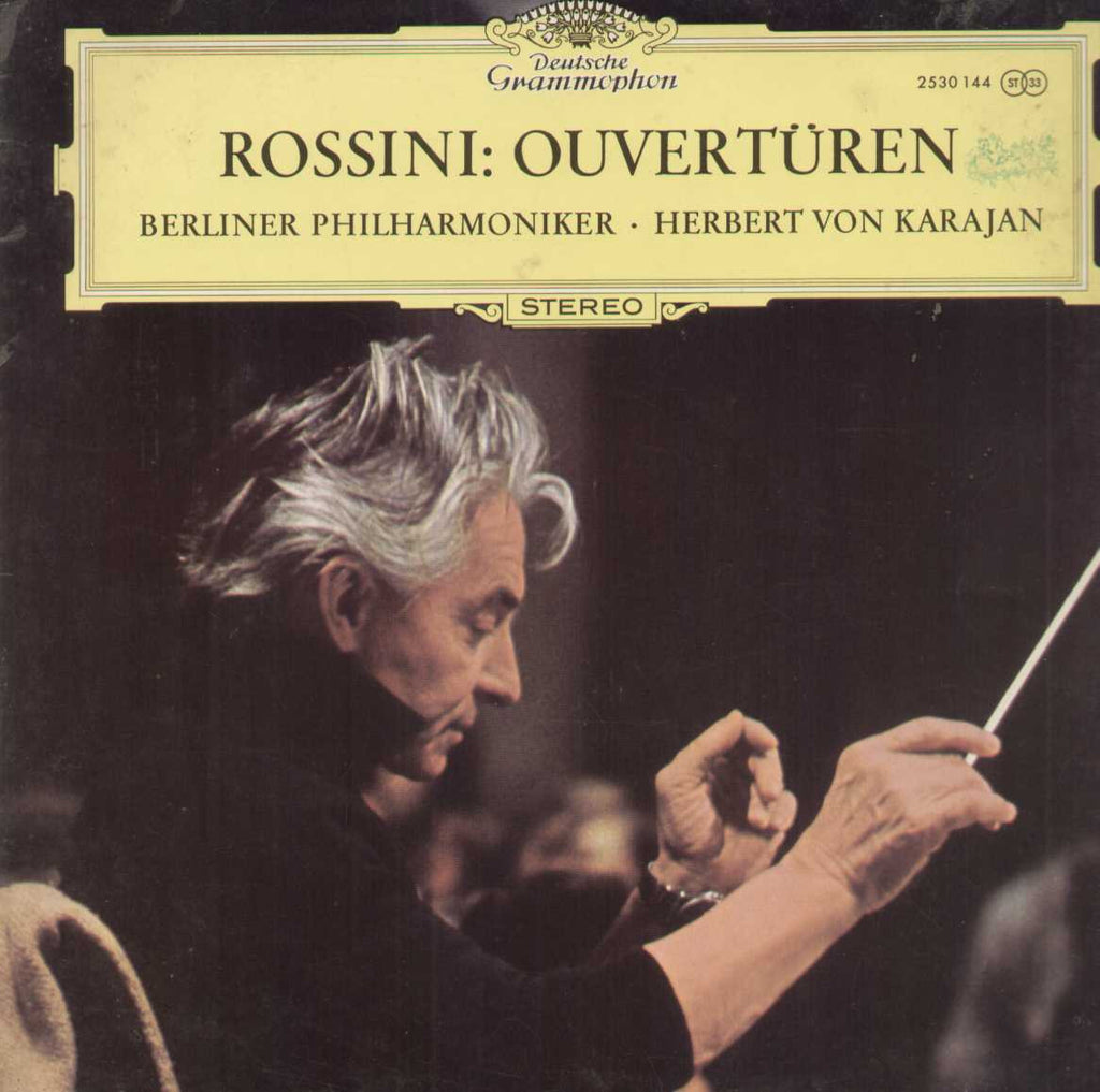 Rossini Ouverturen Berliner Philharmoniker Herbert Von Karajan English Vinyl LP