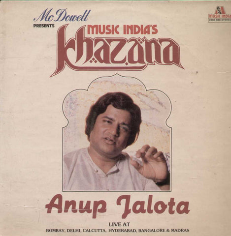 Music India Khazana Anup Jalota English Vinyl LP