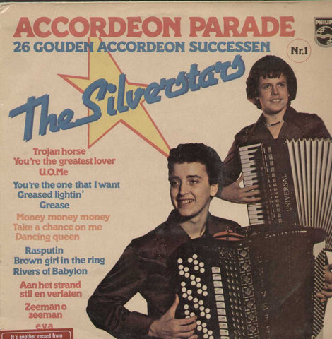 Accordeon Parade The Silverstars 26 Golden Accordeon Hits Engtlish Vinyl LP