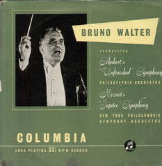 Bruno Walter English Vinyl LP