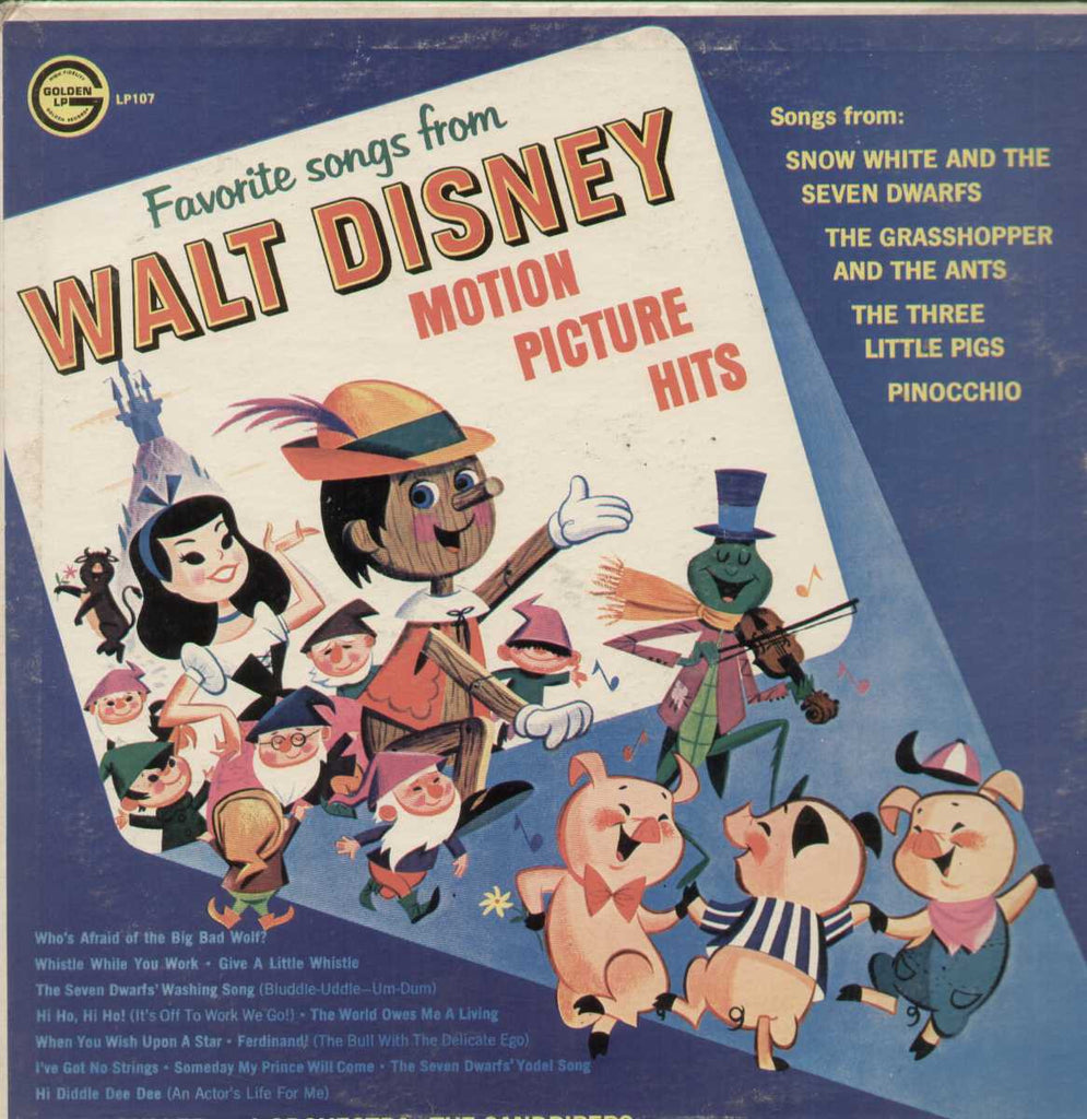 Favorite Songs From Walt Disney Mitch Miller And Orchestra English Vinyl LP