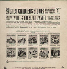 Snow White And The Seven Dwarfs Great Childrens Stories English Vinyl LP