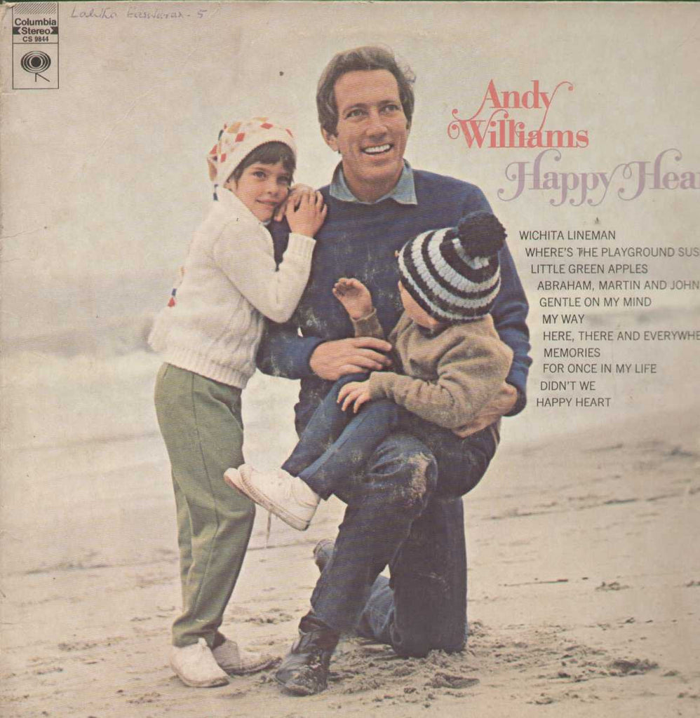 Andy Williams Happy Heart English Vinyl LP