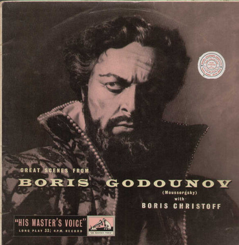 Boris Godounov Moussorgsky With Boris Christoff English Vinyl LP- First Press