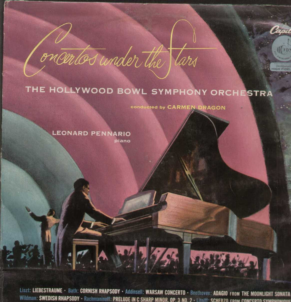 Concertos Under The Stars The Hollywood Bowl Symphony Orchestra English Vinyl LP