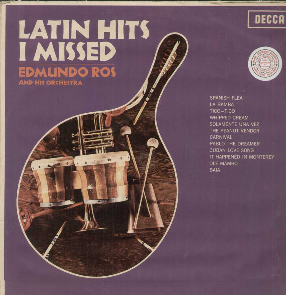 Latin Hits I Misswd Edmundo Ros And His Orchestra English Vinyl LP