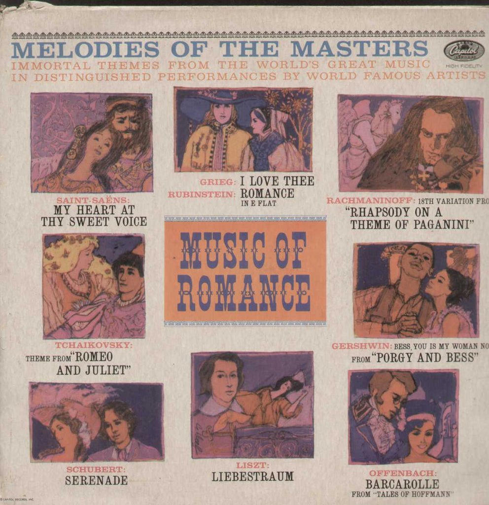Melodies Of The Masters Music Of Romance English Vinyl LP