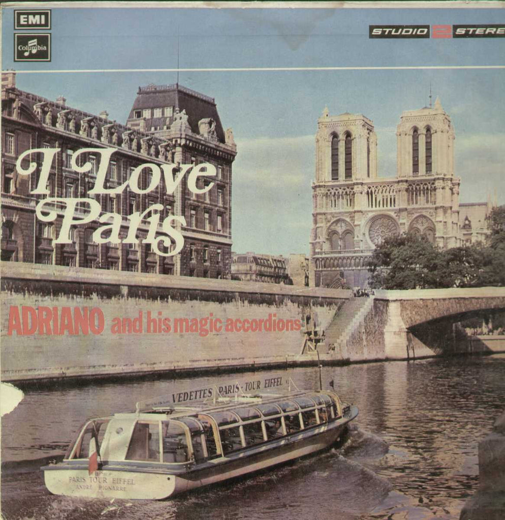 I Love Paris Adriano And His Magic Accordions English Vinyl LP