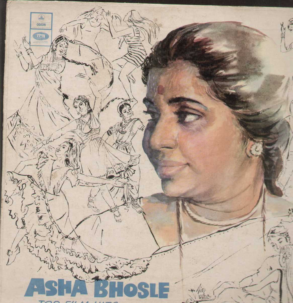 Asha Bhosle Top Film Hits Bollywood Vinyl LP