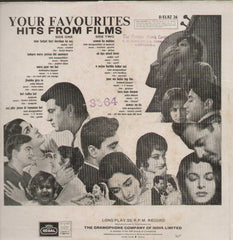 Your Favourites Hits From Films Bollywood Vinyl LP