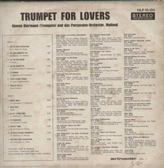 Trumpet For Lovers Remon Biermann (Trompete) Und Das Percussion-Orchestr, Mailand English Vinyl LP
