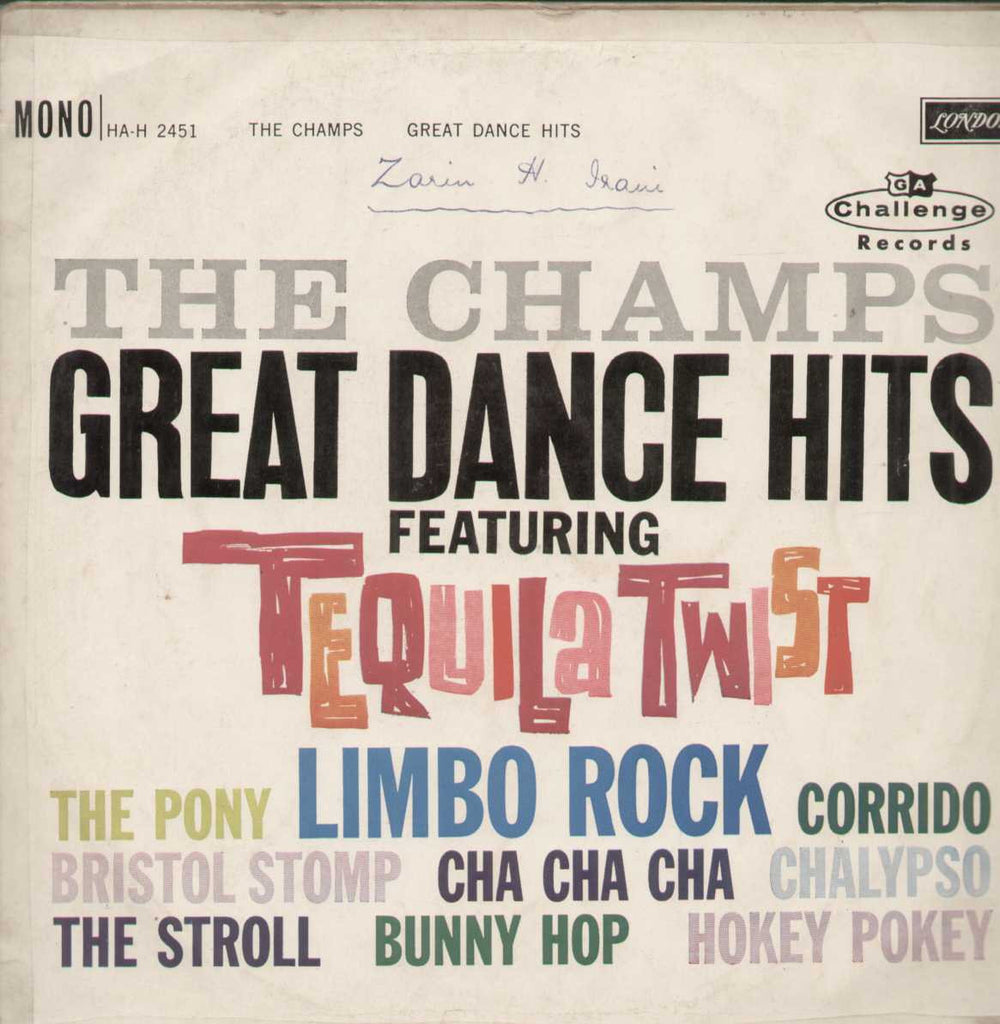 The Champs Great Dance Hits Featuring Tequila Twist English Vinyl LP