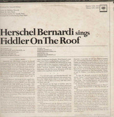 Herschel Bernardi Sings Fiddler On The Roof English Vinyl LP