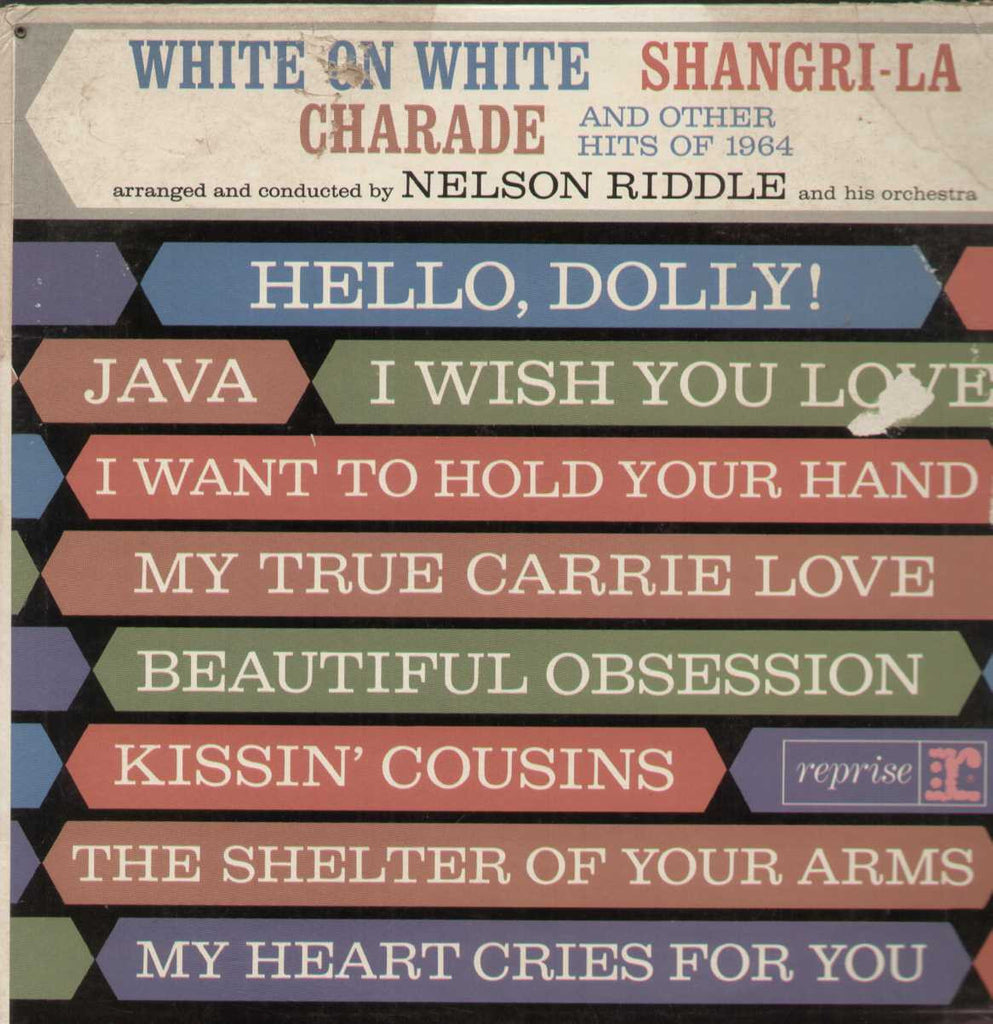 White On White Shangri-La Charade And Others Hits Of 1964 Nelson Riddle English Vinyl LP