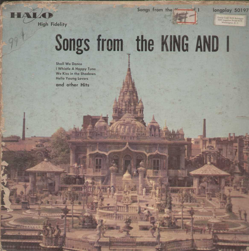 Songs From The King And I English Vinyl LP