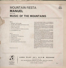 Mountain Fiesta Manuel And His Music Of The Mountains English Vinyl LP