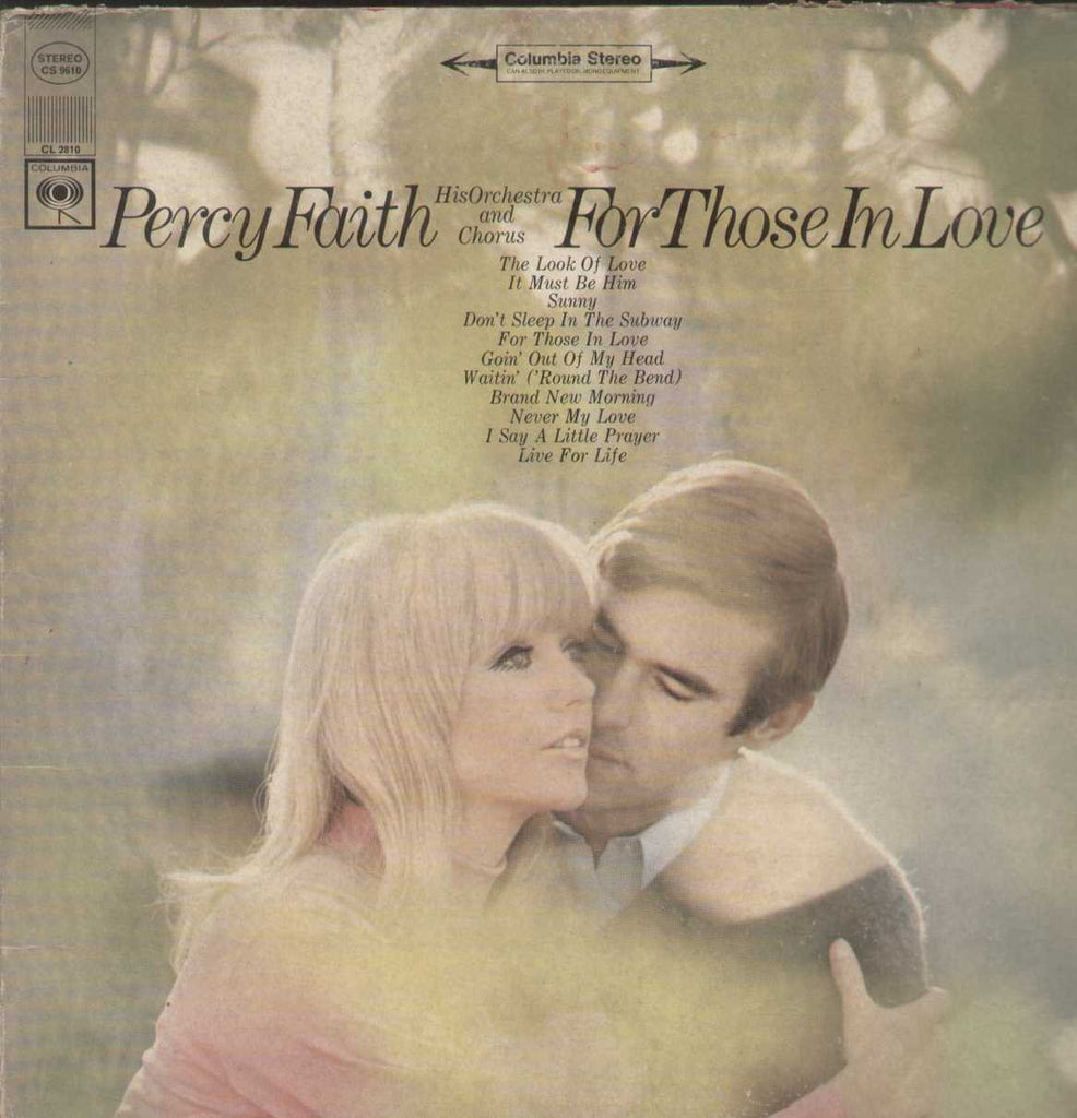 Percy Faith His Orchestra And Chorus For Those In Love English Vinyl LP