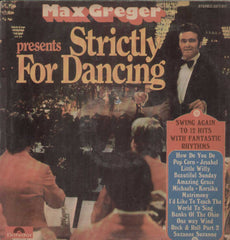 Max Greger Strictly For Dancing English Vinyl LP