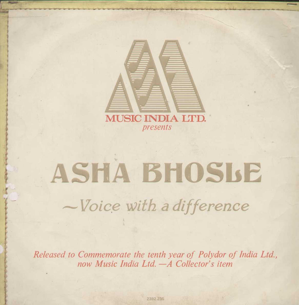 Asha Bholse Voice With A Difference Bollywood Vinyl LP