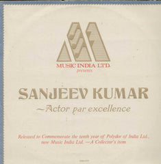 Sanjeev Kumar Actor Par Excellence Bollywood Vinyl LP