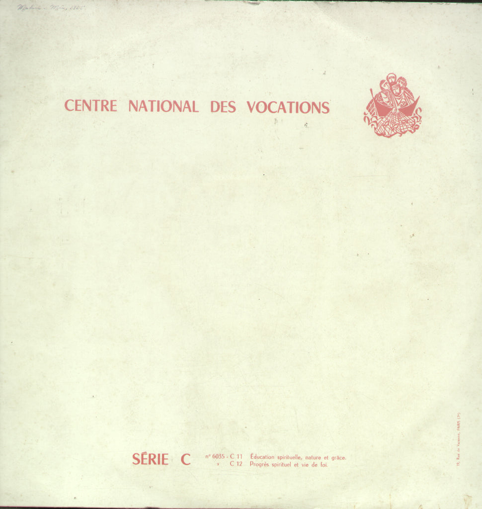 Centre National Des Vocations Serie C - English Bollywood Vinyl LP