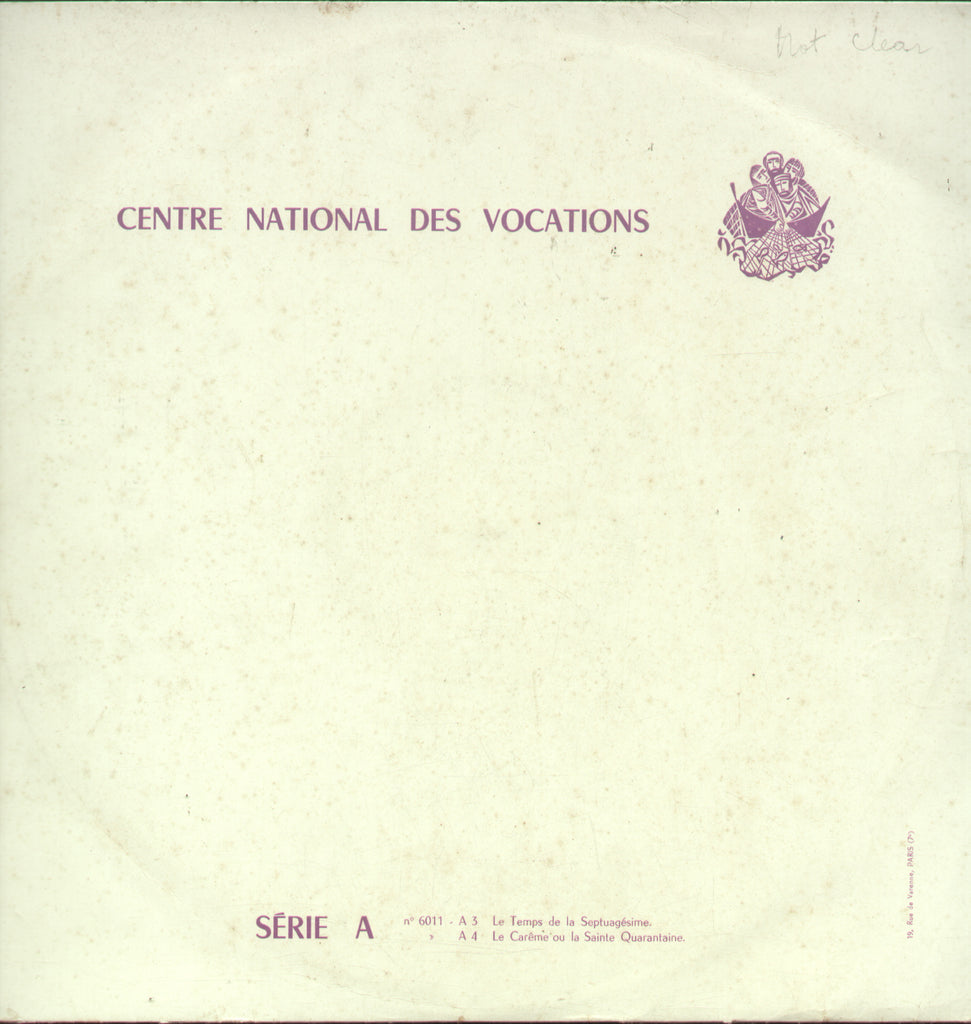 Centre National Des Vocations Srie A - English Bollywood Vinyl LP