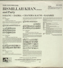 Bismillah Khan Compilations Vinyl LP - Classical Bollywood Vinyl LP