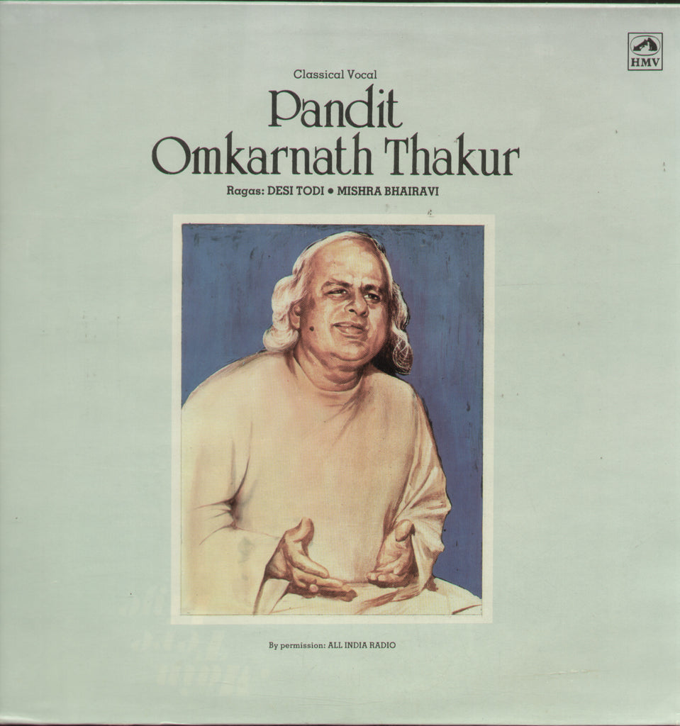 Pandit Omkarnath Thakur -Classical Bollywood Vinyl LP