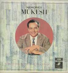Mukesh - Memories - Compilations Bollywood Vinyl LP