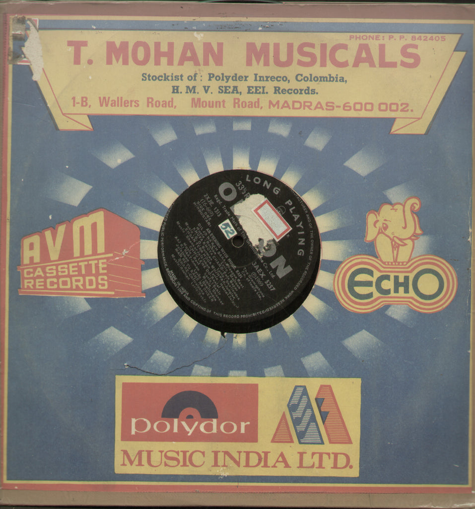 T. Mohan Musicals - Tamil Bollywood Vinyl LP