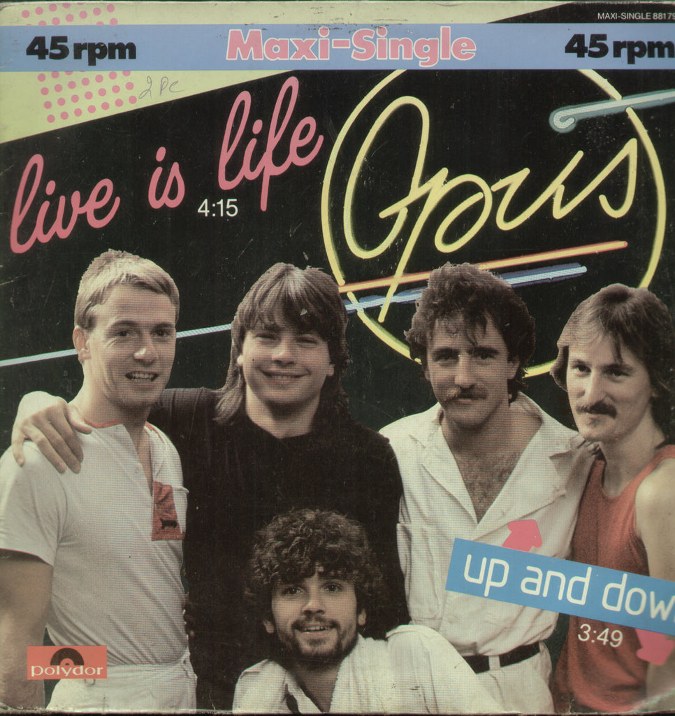 Live is Life Opus Up and Down - English Bollywood LP