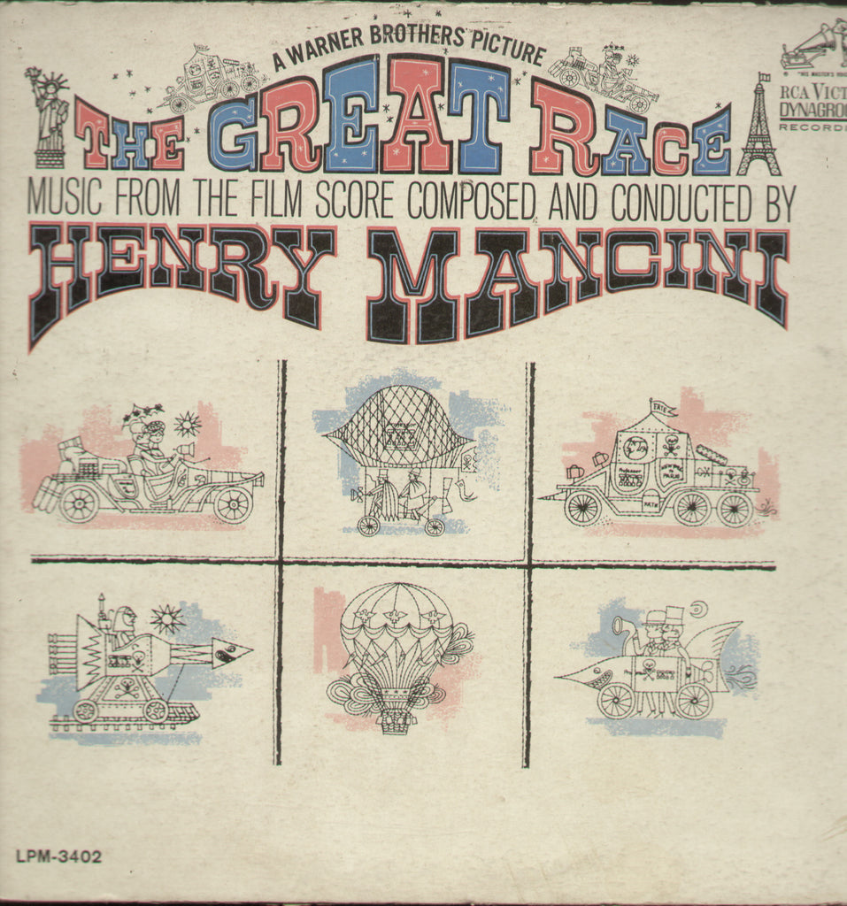 The Creat Race Music From The Film Score Composed and Conducted by Henry Mancini - English Bollywood Vinyl LP