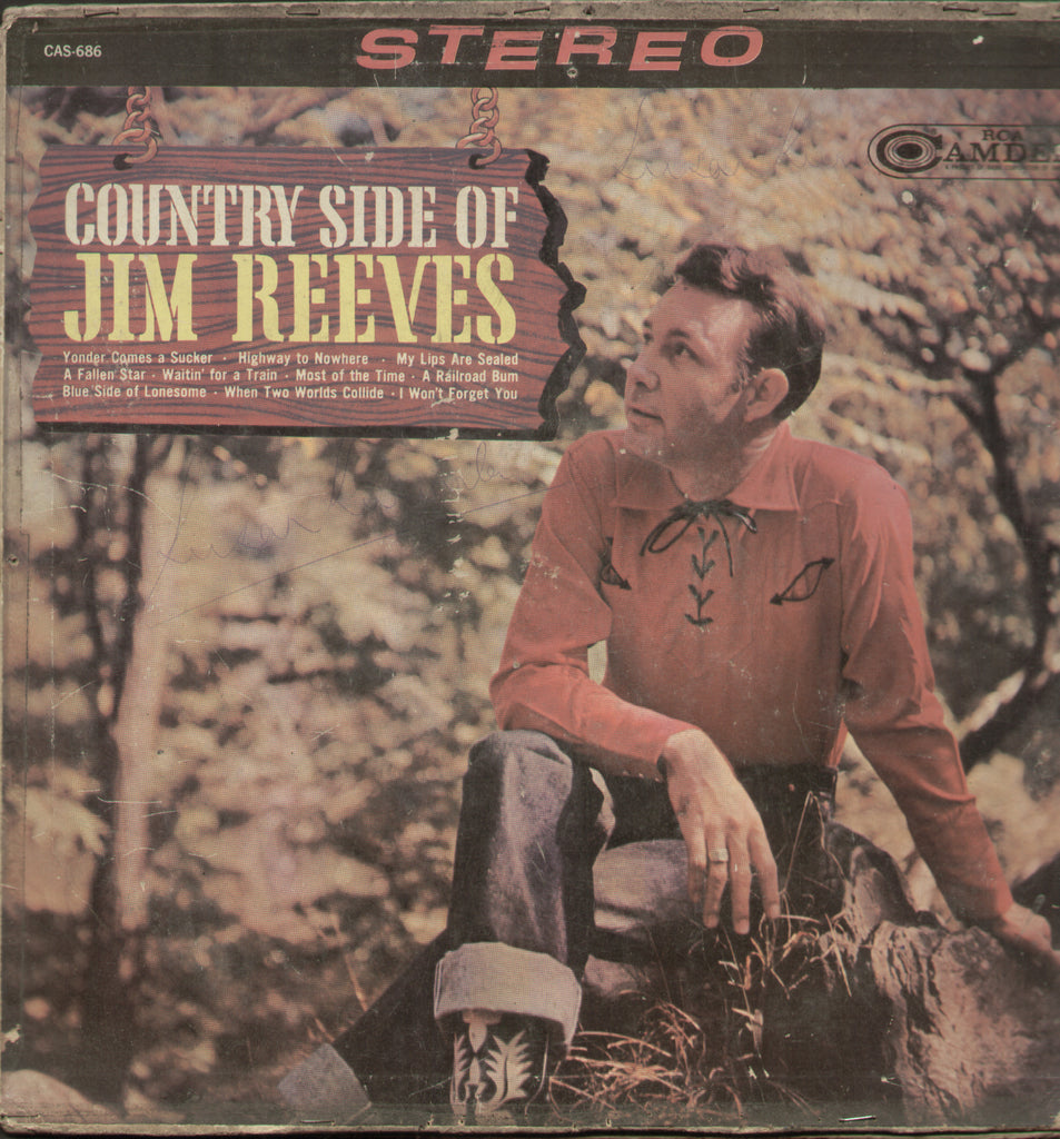 Country Side of Jim Reeves - English Bollywood Vinyl LP