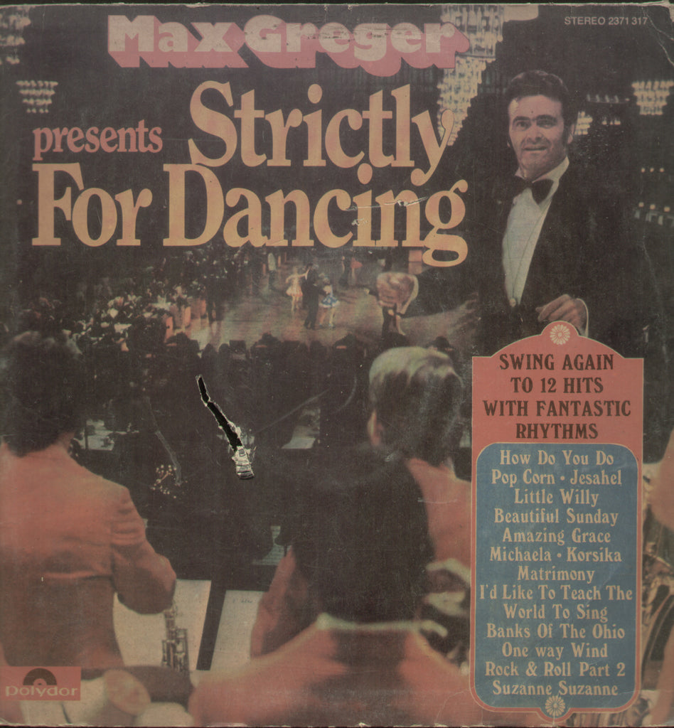 Max Greger Strictly For Dancing - English Bolywood Vinyl LP