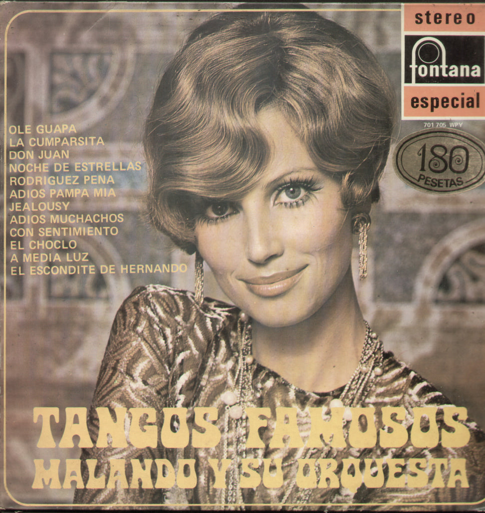 Tangos Famosos Malando Y Su Orquesta - English Bollywood Vinyl LP