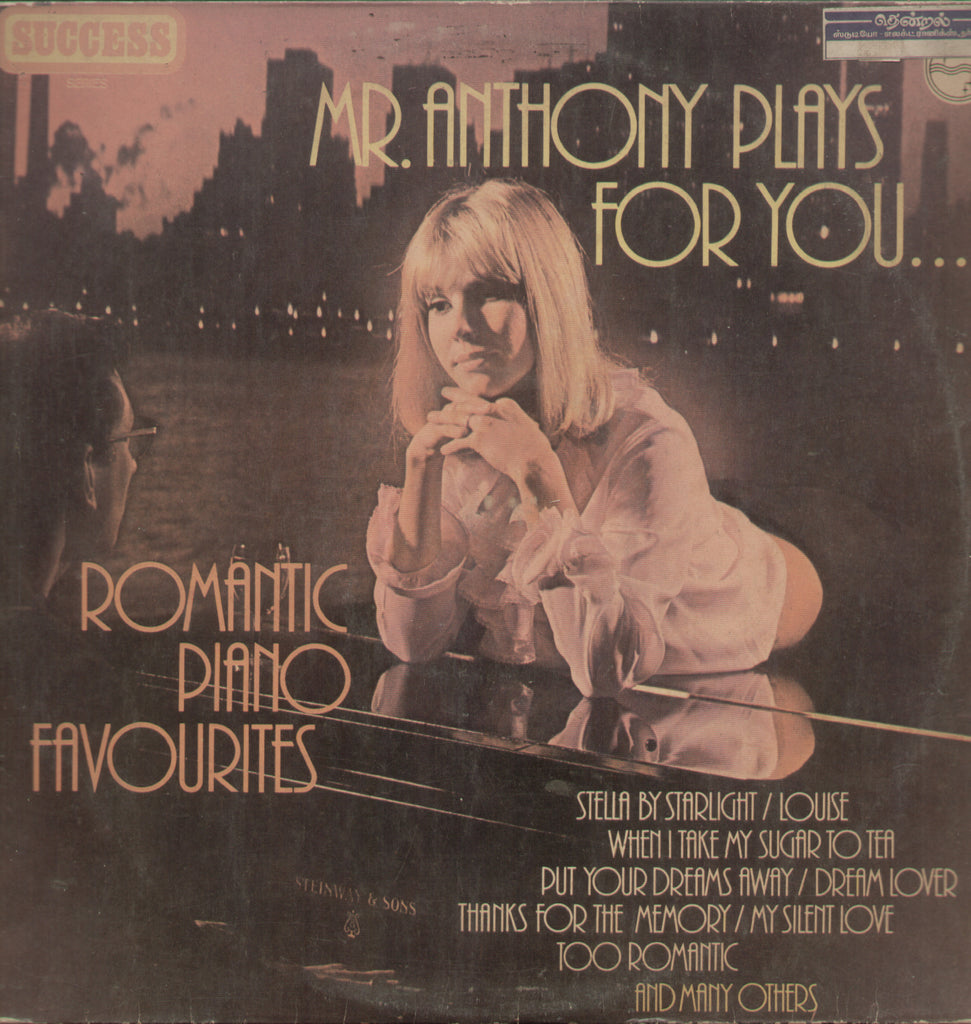 Mr. Anthony Plays for You Romantic Piano Favourites - English Bollywood Vinyl LP