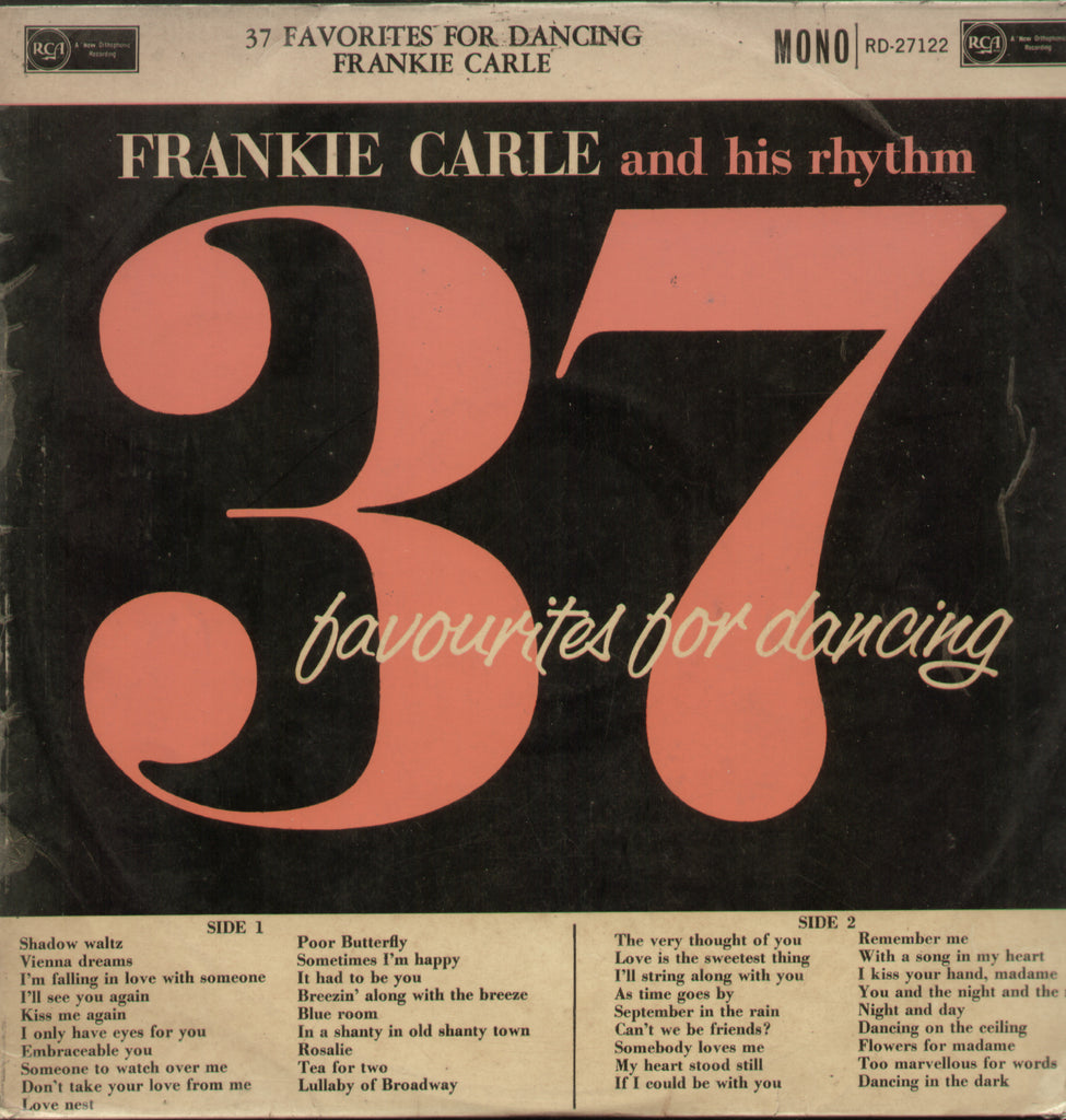 Frankie Carie and his Rhythm 37 Favourites for Dancing - English Bollywood Vinyl LP