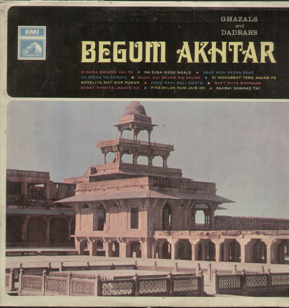 Begum Akhtar Ghazals and Dadrars - Bollywood Vinyl LP