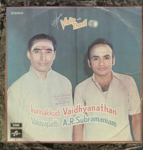 Violin with Thavil - Classical Bollywood Vinyl LP