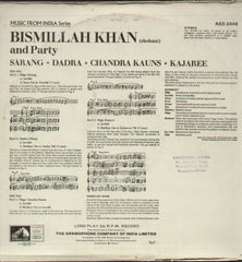 Bismillah Khan - Classical Bollywood Vinyl LP