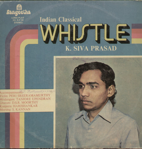 Whistle K. Siva Prasad - Classical Bollywood Vinyl LP