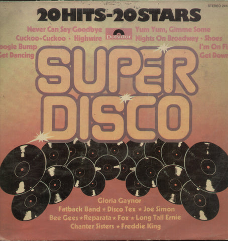 20 Hits 20 Stars Super Disco - English Bollywood Vinyl LP