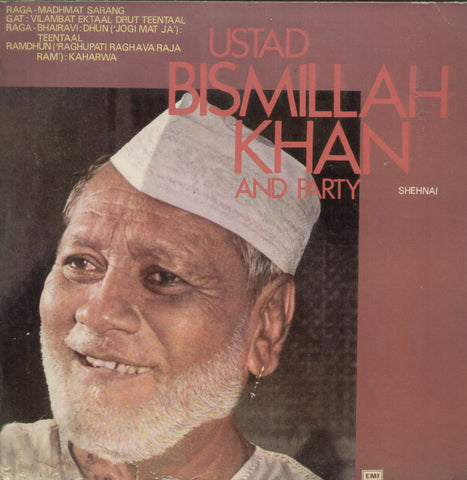 Ustad Bismillah Khan and Party - Instrumental Bollywood Vinyl LP
