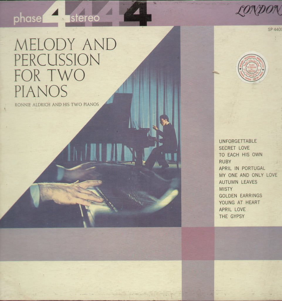 Melody and Percussion For Two Pianos - English Bollywood Vinyl LP