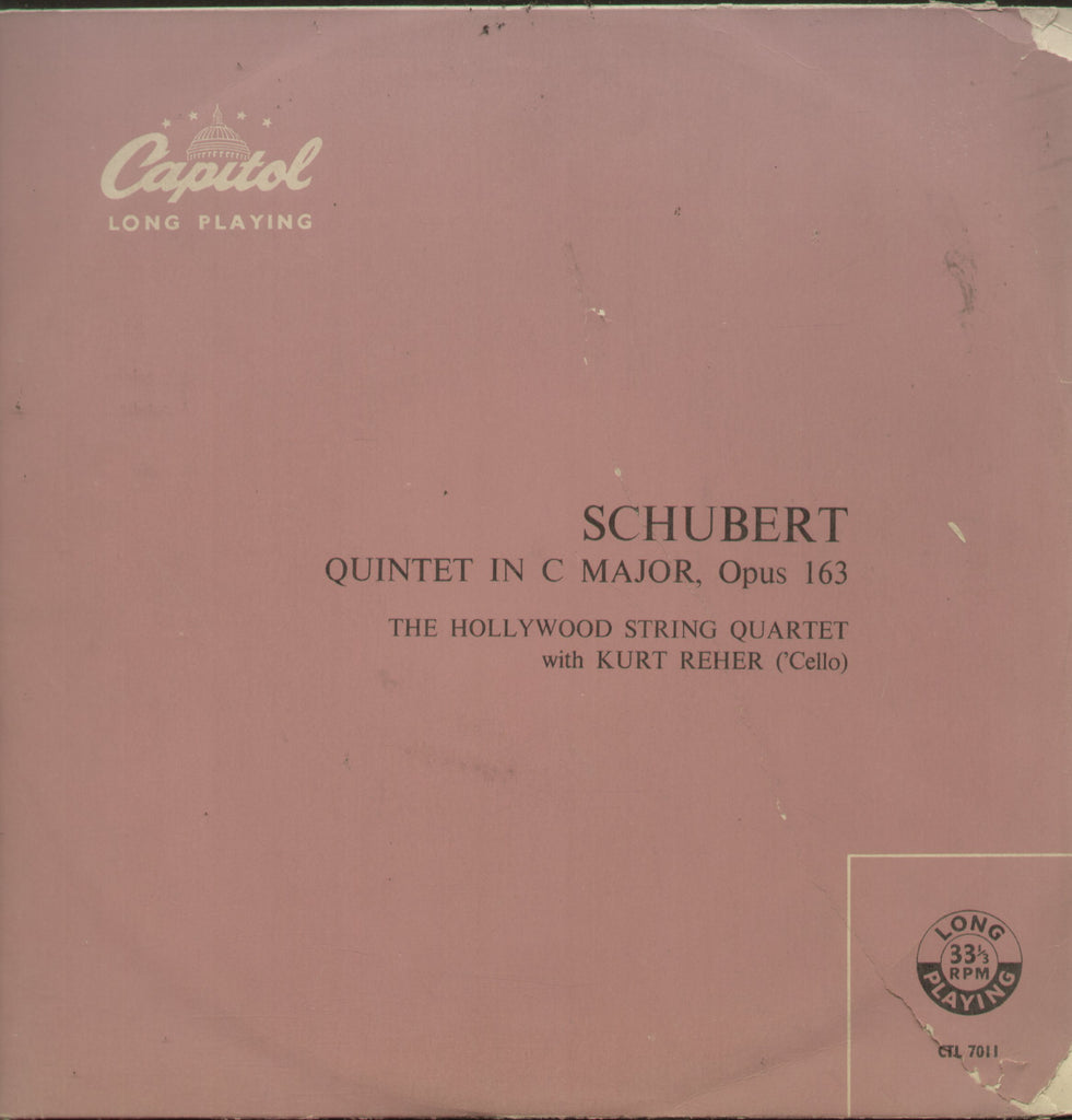Schubert Quintet In C Major, Opus 163 - English Bollywood Vinyl LP