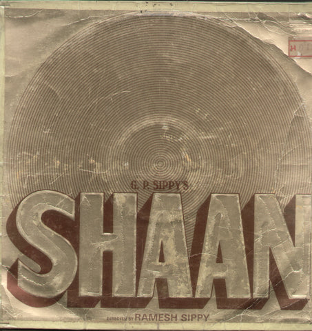 Shaan 1970 - Hindi Bollywood Vinyl LP