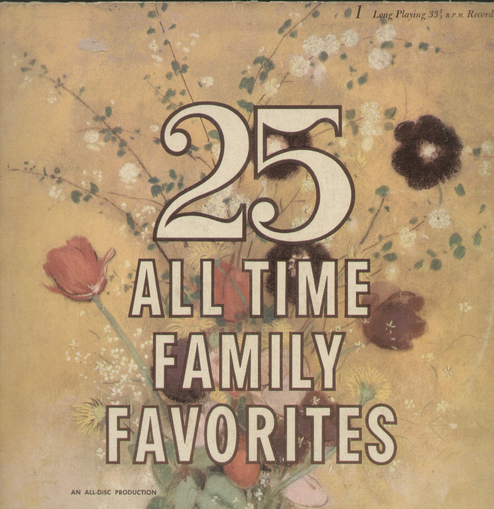 25 All Times Family Favorites - English Bollywood Vinyl LP